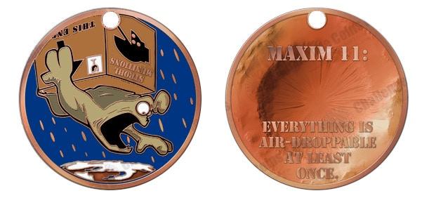 Schlock Mercenary Challenge Coins by Howard Tayler ...