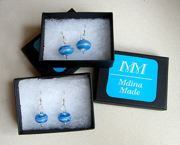 A taste of the Med - 'Seascape' earrings