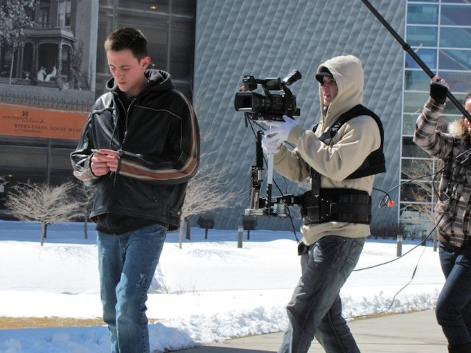 Cowan Directing and Starring in his Senior Film