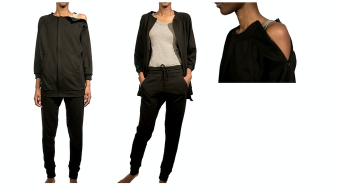 Women's Bomber Jacket - $125 shown with the Lean Urban Pant - $99