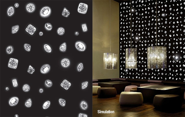 Reward: Diamond Wallpaper (each roll is 70cm wide x 10m long - an equivalent of 7sqm)