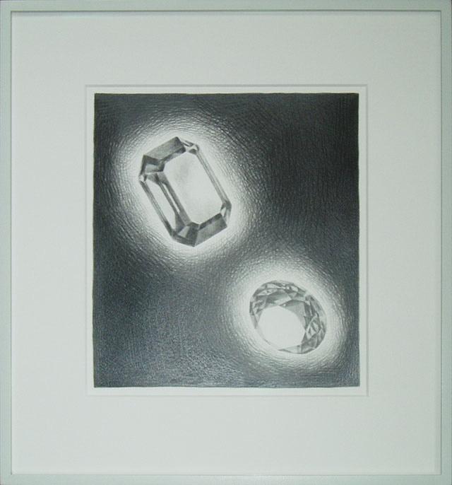 "Reward: Diamond Drawing by David Krippendorff (size 14"" x 17"" / 36 cm x 43 cm unframed)"