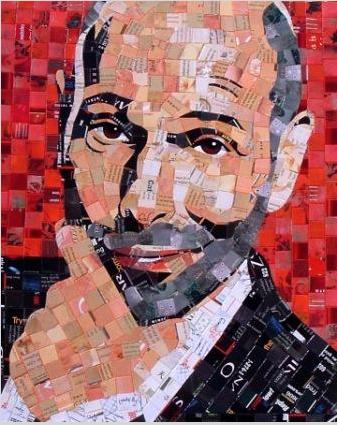Mosaic Portrait By Sandhi Schimmel-Gold
