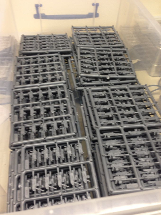 We have prototype sprues of the combined weapons ready to ship...