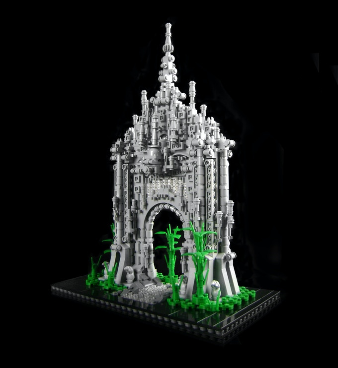 DIY BUILDING KIT: Sanctuary Gate - approx 1700 pieces ($210)