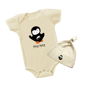 Baby Onsie and Cap with Ying Yang