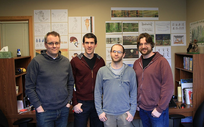 Buddy & Me Team, L to R: Andrew, Brennan, Gene, and Jason