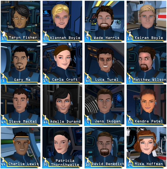 "The crew of the C-3800-D ""ZENLIL"".  Only missing Bishop Six - YOU."