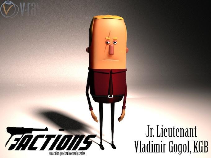 Jr. Lieutenant Vladimir Gogol, KGB. But some suspect him of being an agent of the criminal organization CRABB.