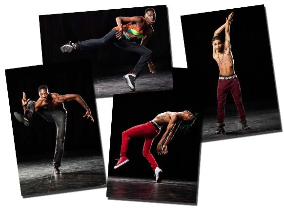 Examples of postcards. From right to left: Element, Brixx, Jay Donn and ShowOff.