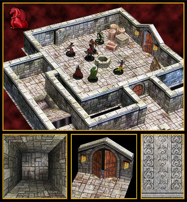 This is a representative image depicting one of our previously released dungeon sets. DUNGEONS of the MOUNTAIN KING will be just as modular, allowing you to create your own layouts and designs.