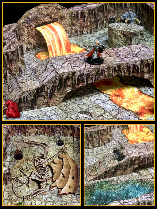 This is a representative image depicting our previously released caverns set. CAVERNS of the MOUNTAIN KING will be just as modular, allowing you to create your own layouts and designs.