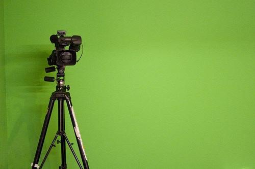 Green Screen & Camera. CCLicence ZapTheDingbat