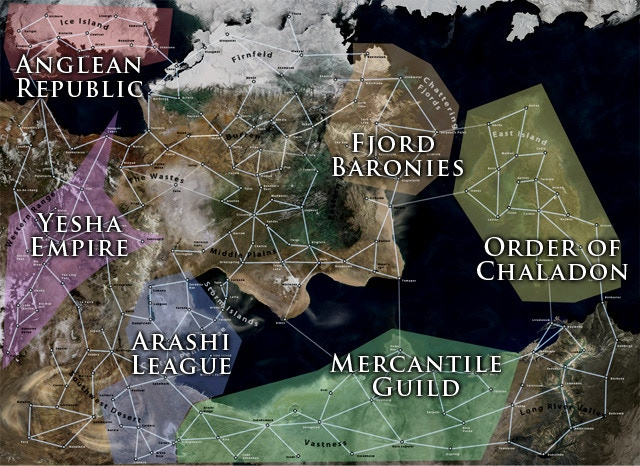 Six player-run factions, many routes, even more towns. Which faction will reign supreme?