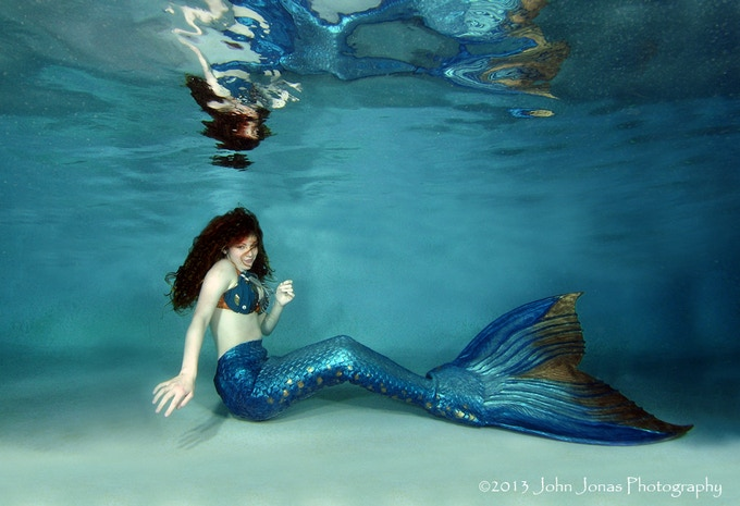 A Finfolk Productions mermaid. Photo credit John Jonas Photography