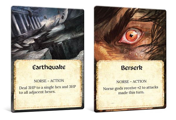 Examples of the Divine Powers Cards