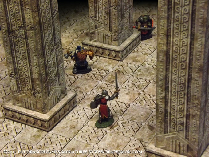 Prototype models from Halls of the Mountain King set.