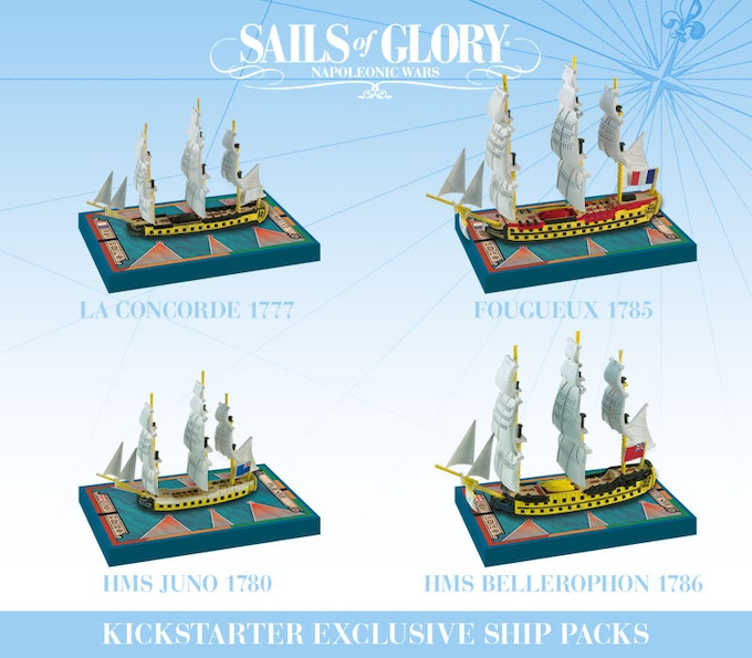 The four ships included in the KS-Exclusive Ship Packs.