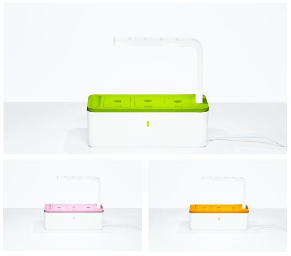 Our colors in addition to Classic White: Kiwi Green, Soft Pink and Orange.