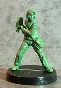 Tong Hacker green, sculpted by PF
