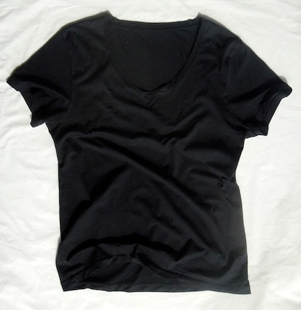 Men's Minimal T-shirt with dropped neckline- $50