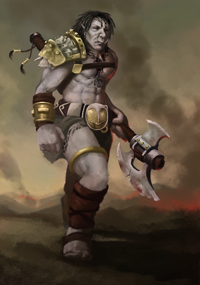 This Orc was designed by our racial concept artist, Ben G