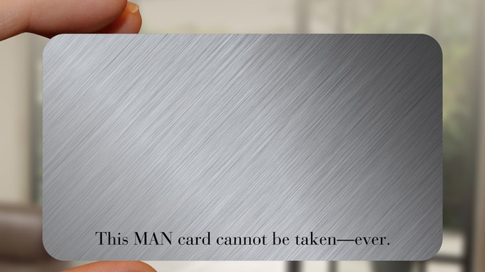 The BACK of the GENTLEMAN card