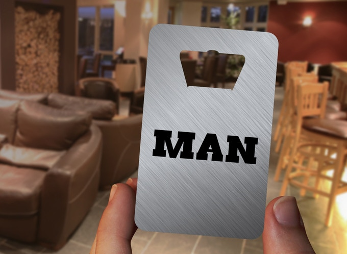The DELUXE VERSION of the LUMBERJACK MAN card