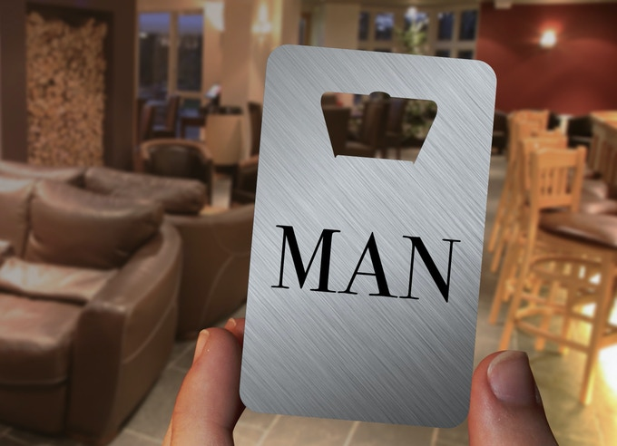 The DELUXE VERSION of the GENTLEMAN card