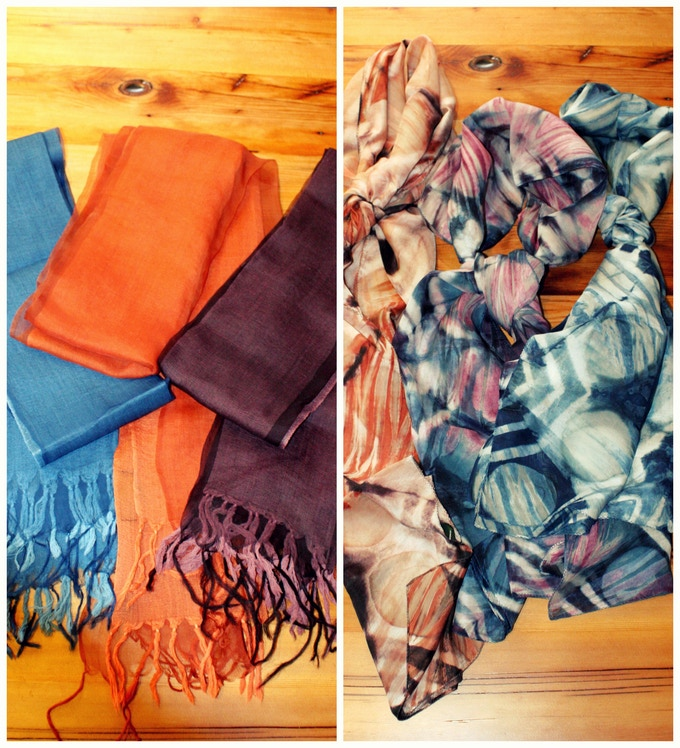 Solid Color and Patterned Scarves
