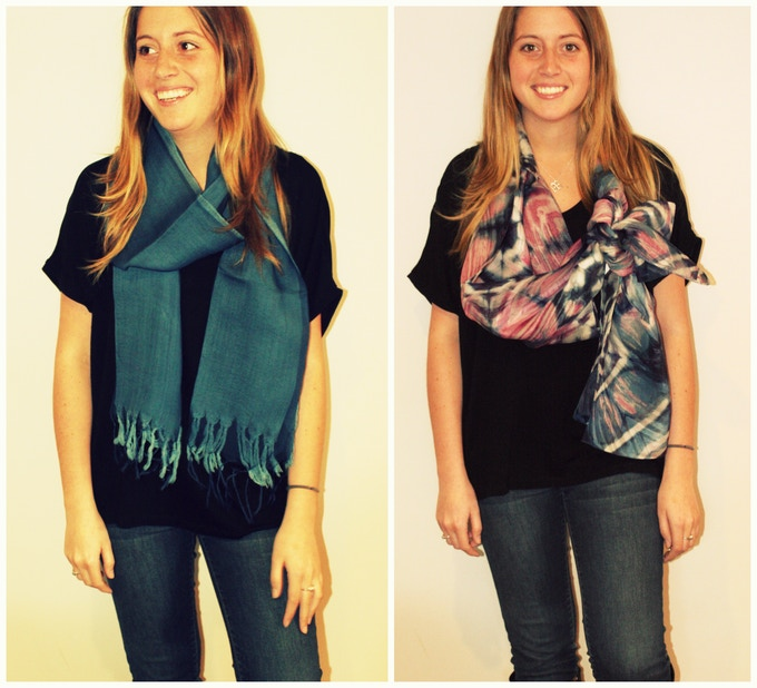 Natural Dyed Silk Scarves