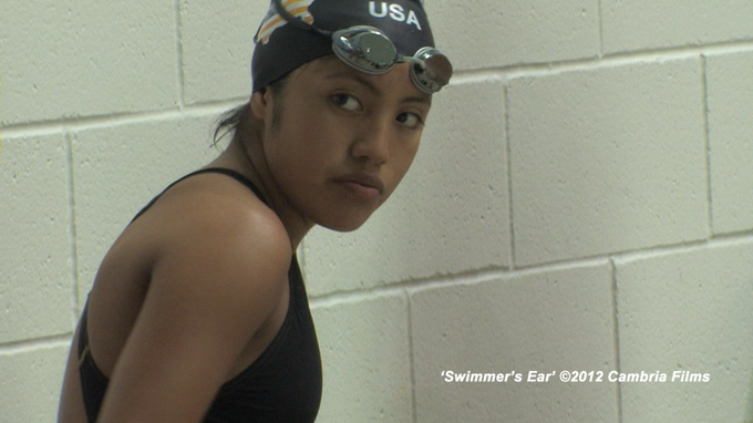 Jazmin waits for her event before the Deaflympics time trials near Seattle, WA.