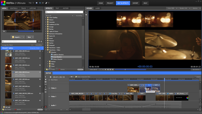Editing in HitFilm