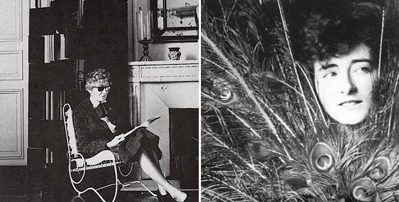 Eileen Gray in her Paris apartment in the rue Bonaparte, circa 1972; a young Eileen Gray during her first years in Paris, circa 1905.