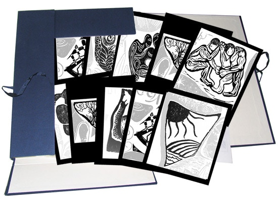 Limited Edition 80 Original Woodcuts by Artists from Around the World