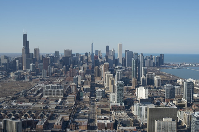 Northern view of the Chicago skyline