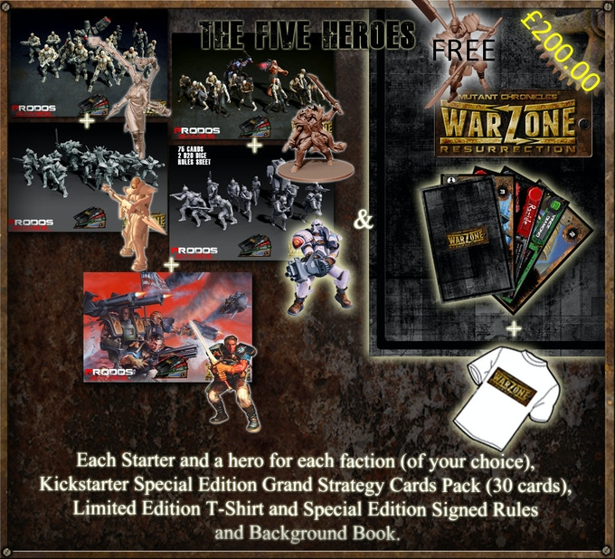 Choose any five starter sets and any five heroes
