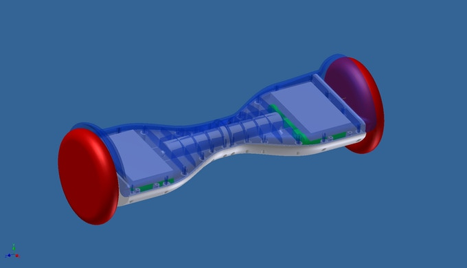 A 3D rendering of the Hovertrax.