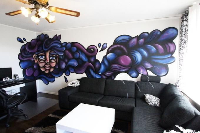 Mural commission. Uppsala, Sweden. 2012.