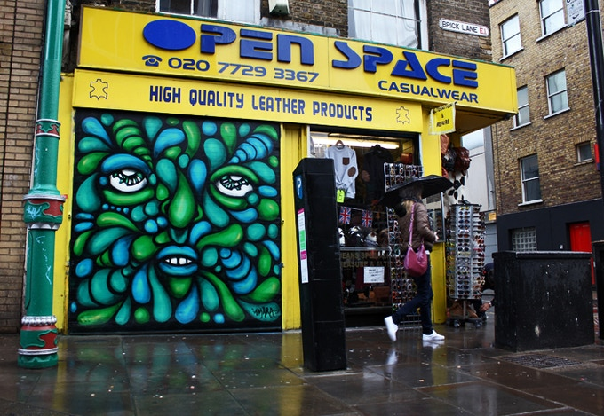 Shutter in Brick Lane. London. 2012.
