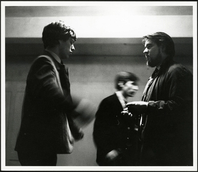 Mick Jagger and Giorgio Gomelsky