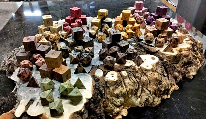 The First Sets of Prototype Exotic Wooden Dice.