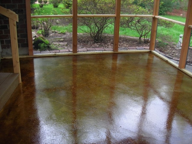 Example of stained concrete finish.