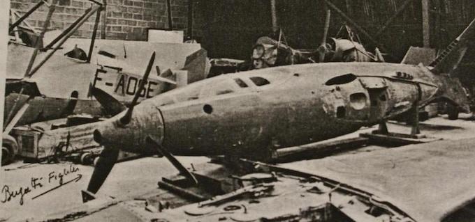 Bugatti 100P, possibly in La Ferté-Alais during the late 1960s (Courtesy EAA)