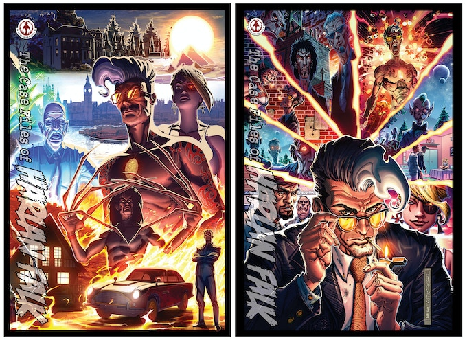 The Full Color, 100 pg Graphic Novel will ship with two covers 50/50
