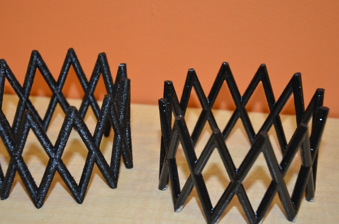 fast print, ABS - low resolution: (left) normal - (right) 3DRefiner 15 mins w/ Acetone