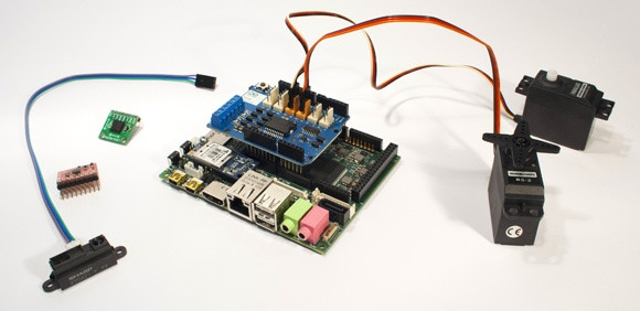 UDOO with shield and sensors