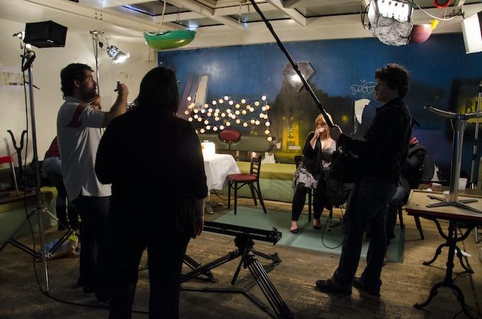 Our set. All indoor scenes were shot here.