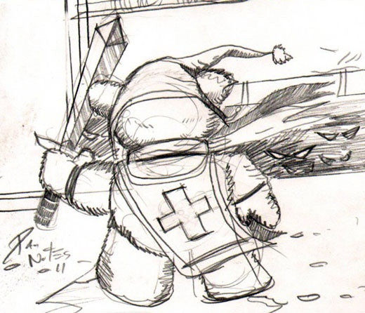 The Quick Sketch that started it all - Tristan the Teddy Bear by Dan Nokes