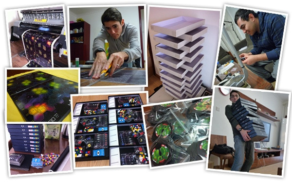 Hand-making the First Edition copies of HEXICA